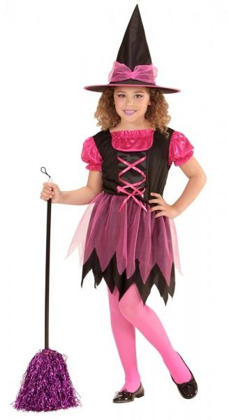 Süße Hexe Matilda Kinderkostüm Pink