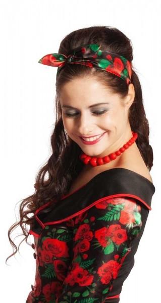 Damen Haarband Rosengarten