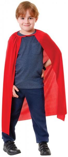 Roter Superhelden Umhang für Kinder