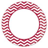 8 Mix Patterns Pappteller rot 23
