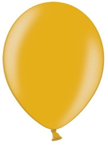 10 Party Star Balloons Metallic Gold 30cm