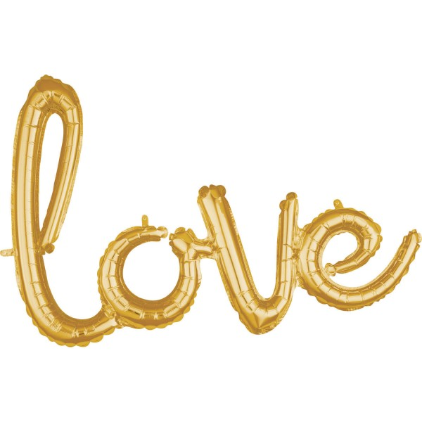Golden Love lettering 78 x 53cm