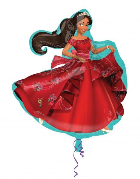 Ballon aluminium Elena par Avalor dans une robe de bal