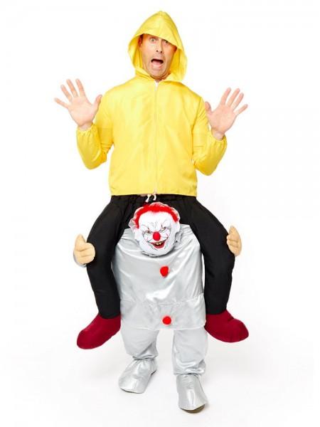 Auf Horror Clown Huckepack Kostüm