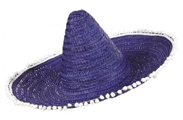 Lila Sombrero Mit Bommeln 50 cm