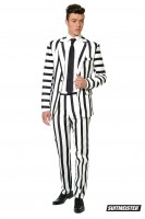 Suitmeister Partyanzug Striped Black White