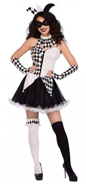 Seksowny błazen Klara kostium damski