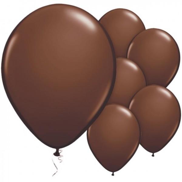 25 Schokobraune Luftballons Passion 28cm