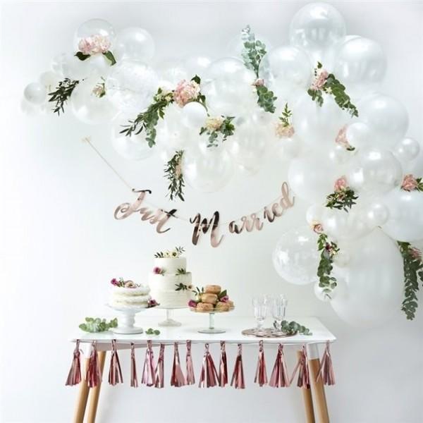 Arco de globo blanco con 70 globos