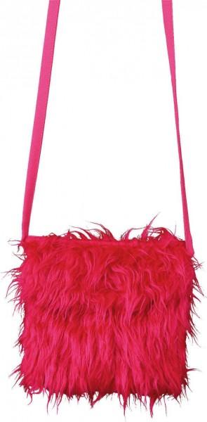 Pink plush bag