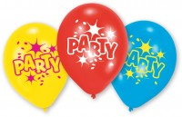6 Party Spaß Latexballons 23cm