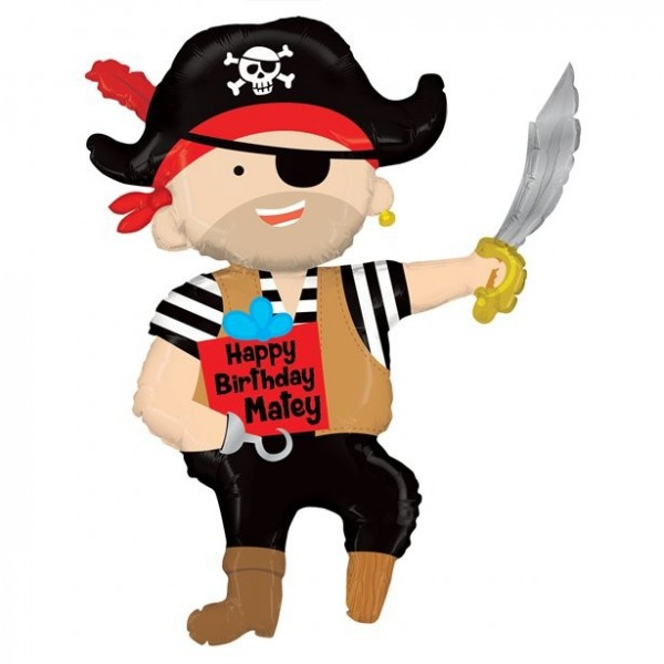 Large pirate foil balloon 112cm