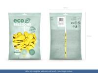 100 Eco Pastell Ballons gelb 26cm