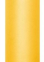Tissu Tulle Luna jaune 9m x 30cm