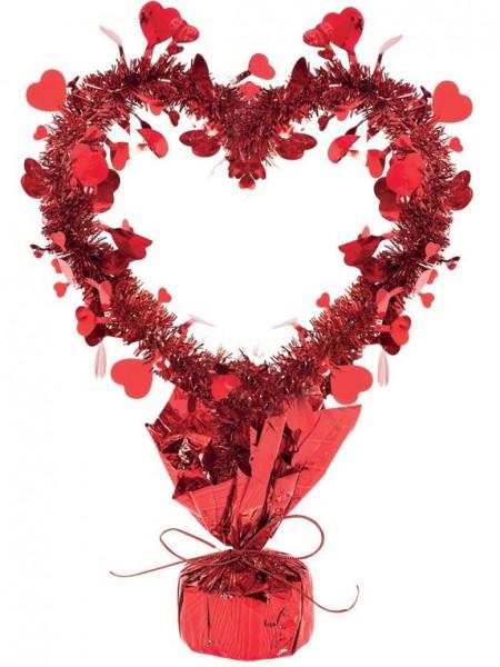 Świecidełko ozdobne serce miodowe 35cm