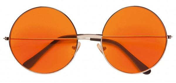 Occhiali hippie arancioni anni '70