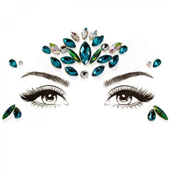 Bindi glitter gezicht sieraden Zeemeermin