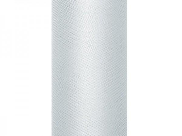 Tüll Stoff Luna grau 9m x 30cm