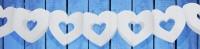 Herz Papiergirlande 3m Weiß