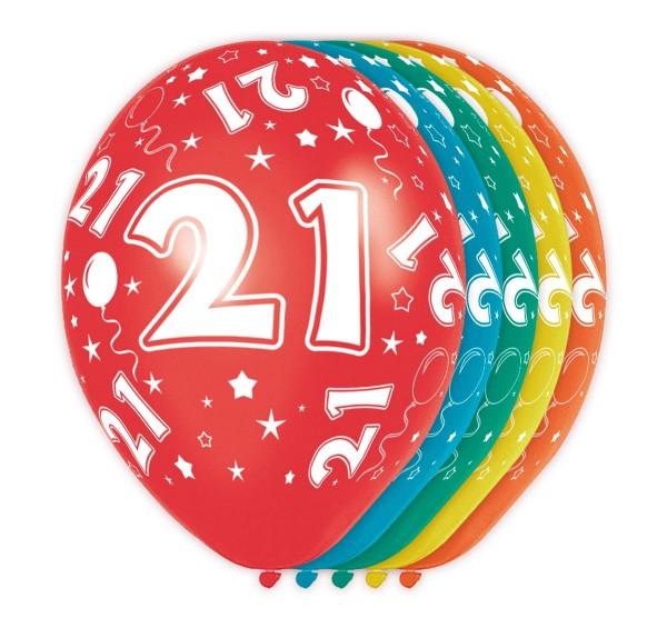 5 palloncini Big 21 30cm