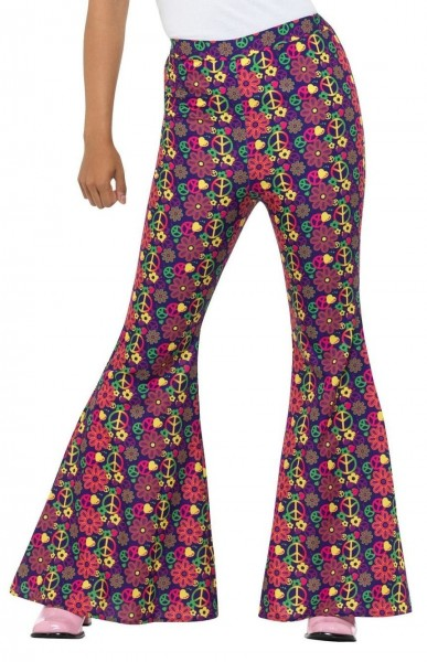 Flower Power Hippie Hose für Damen
