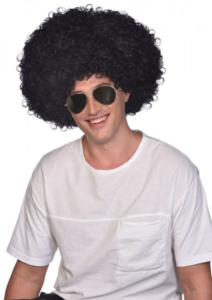 Black Afro wig Groovy