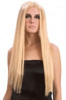 Perücke Blond Glatt Lang
