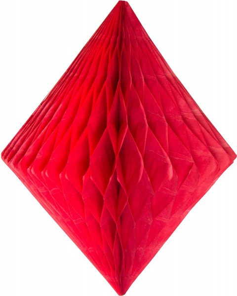 Honeycomb diamond in red 30cm