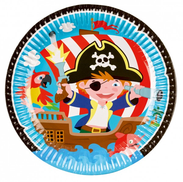 8 Little Pirate Pappteller 23cm
