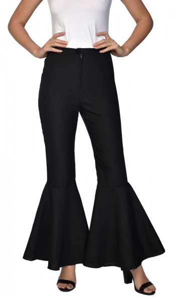 70's Flared Pants Black Women's