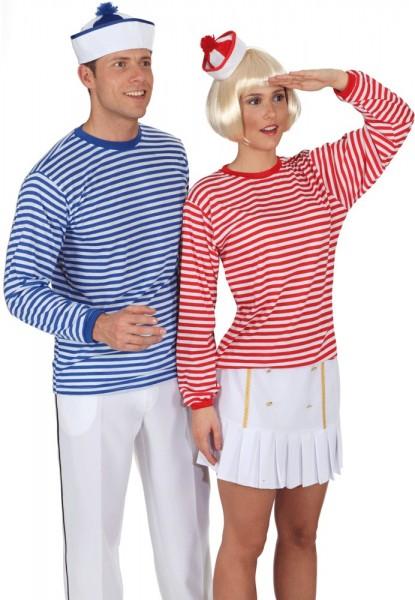 Camisa de rayas unisex a rayas