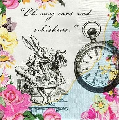 20 serviettes Alice Tea Party 25cm