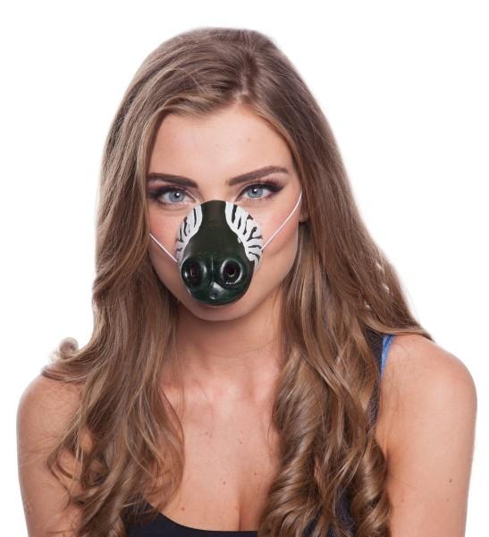 Tierische Zebra Nase Maske