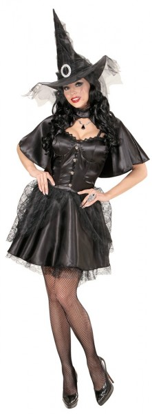 Short Witch Costume For Ladies With Hat And Cape