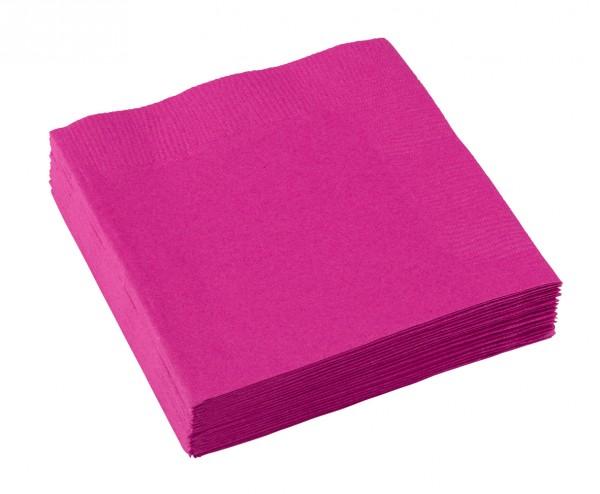 20 serviettes papier Mila rose 25 x 25cm