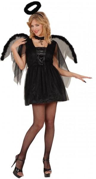 Schwarzer Engel Lilith Damenkostüm