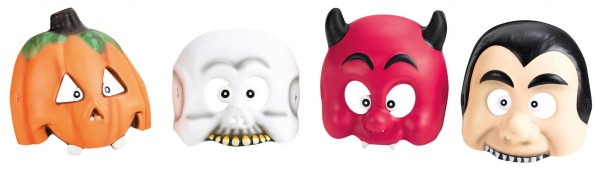 Halloween kids party funny scary mask 4 pieces