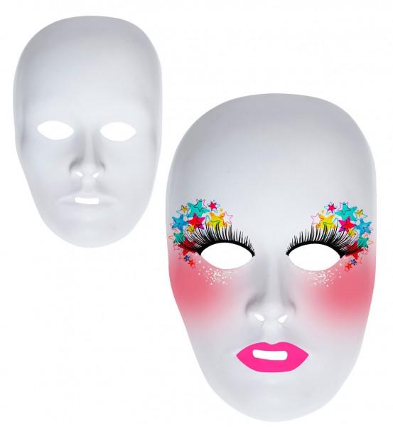 Masque blanc à peindre