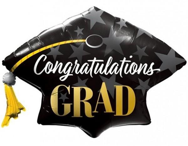 Félicitations ballon diplômé en aluminium 1,04 m