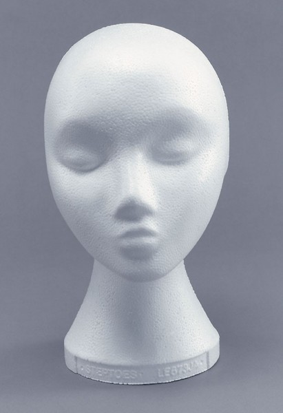 Styropor Damen Perückenkopf