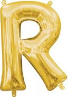 Mini Folienballon Buchstabe R gold 35cm