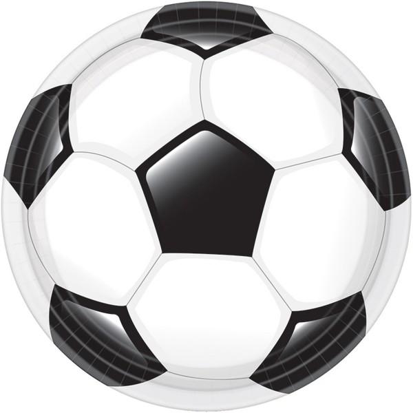 8 Fußball Game Time Pappteller 23cm
