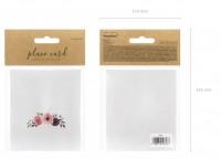 25 Blumengarten Tischkarten 9,5 x 5,5cm