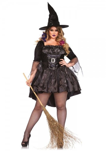 Costume da Strega Party Eugenia Black
