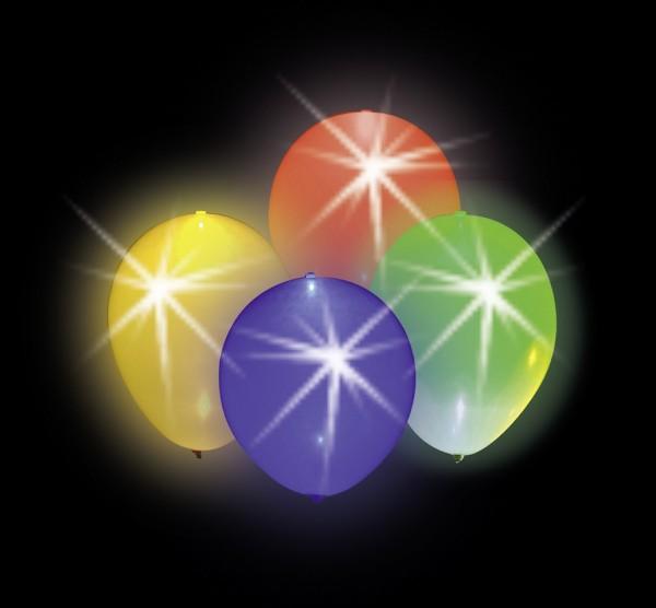 4 palloncini colorati LED per feste LED 23cm