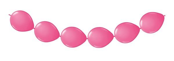 8 Ballons pink für eine Girlande 3m