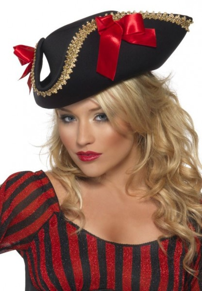 Piratenprinzessin Hut Schwarz-Rot
