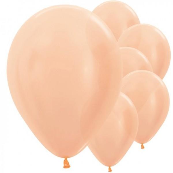 10 ballons métalliques or rose Passion 28cm