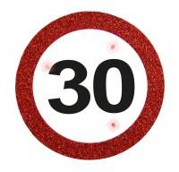 LED Verkehrsschild 30 Button
