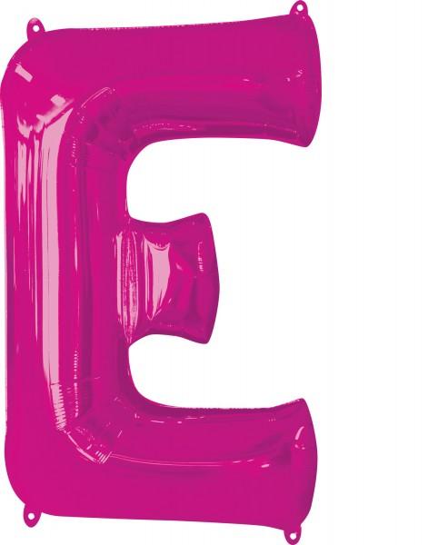 Foil balloon letter E pink XL 81cm